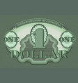 protective green guilloche mesh pattern dollar vector image vector image