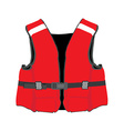Red life jacket vector image vector image