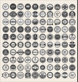 retro vintage badges and labels mega collection vector image