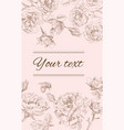 Rose vertical banner vector image vector image