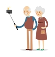 Selfie photo shot grandpa and grandma vector image vector image