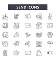 send line icons signs set linear concept vector image vector image