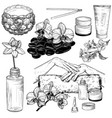 set spa and manicure vector image