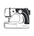 sewing machine monochrome vector image