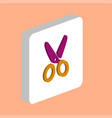 shears scissors computer symbol vector image vector image