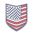 shield of flag united states of america color vector image vector image