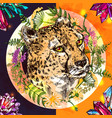 sketch cheetah vector image vector image