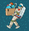 space exploration concept astronaut takes the vector image vector image
