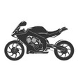 sport bike detailed monochrome isolated race vector image