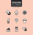 sweets - set of line design style icons vector image vector image