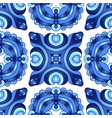 tiled design blue and white vector image vector image