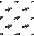 Voodoo doll icon in black style isolated on white vector image