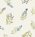 watercolor seamless flowers pattern vector image