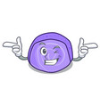 wink blueberry roll cake character cartoon vector image