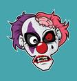 zombie head - clown zombie vector image vector image