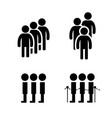 queue symbol in flat style vector image