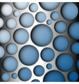Metal speaker lattice Blue background vector image