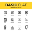 Basic set of Newspaper icons vector image
