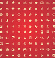 100 family icons vector image vector image