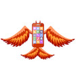 a phone devil icon vector image vector image