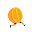 a running orange icon tasty orange fruit flat vector image