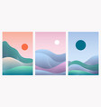 abstract minimal gradient landscape set template vector image