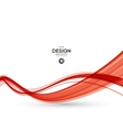 Abstract red wavy lines vector image vector image