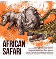 african safari wild animals sketch vector image vector image