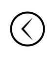 arrow left rounded icon vector image vector image