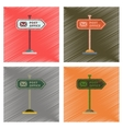 assembly flat shading style icons sign post office vector image vector image
