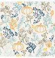 autumn seamless pattern elements design leaf vector image vector image