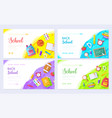 back to school brochure card set student template vector image vector image