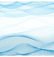 Background of blue-white ribbons intertwined vector image vector image