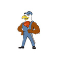 Bald Eagle Plumber Plunger Isolated Cartoon vector image vector image