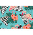 beautiful tropical seamless pattern vector image