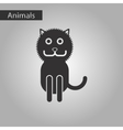 black and white style icon cat vector image vector image