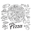 black pizza vector image vector image