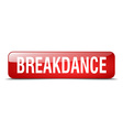 Breakdance red square 3d realistic isolated web