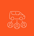 carsharing service mono line style icon vector image vector image