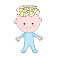 Cartoon little boy on white background vector image vector image
