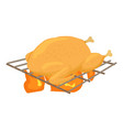 chiken cooked on a barbecue icon cartoon style vector image vector image
