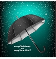 Christmas greeting snow umbrella vector image vector image