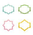 Colorful set of banners frames labels stickers vector image vector image