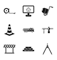 Construction tools icons set simple style vector image vector image