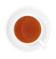 cup of tea 08 vector image vector image