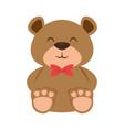 cute bear teddy with bowtie vector image