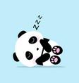 cute panda cartoon sleep concept vector image vector image