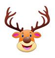 deer head cartoon mascot vector image