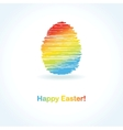 Easter card with two hand drawn eggs vector | Price: 1 Credit (USD $1)