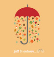 fall in autumn vector image vector image